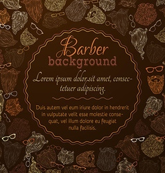Hipster beards and eyeglasses background vector
