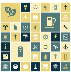 Icons for industrial energy and ecology vector