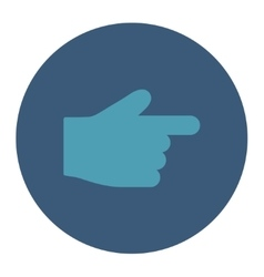 Index finger flat cyan and blue colors round vector