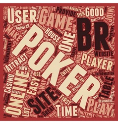 Online poker sites 1 text background wordcloud vector
