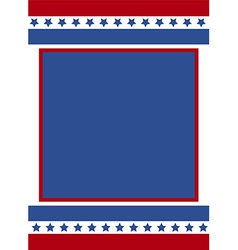 Patriotic frame background vector