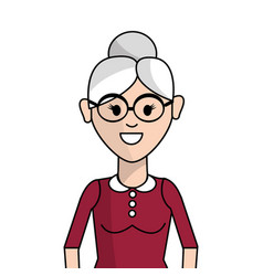 People woman with casual cloth with glasses vector