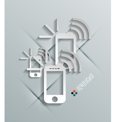 Phone 3d paper concept vector image