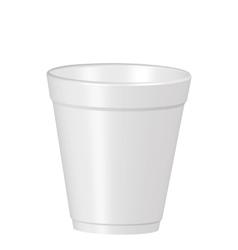 Plastic coffe cup vector
