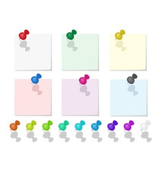 push pin collection vector image