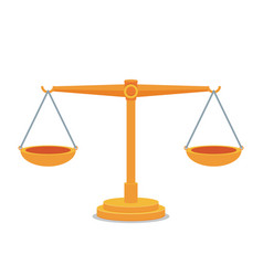 scales balance icon flat design vector image