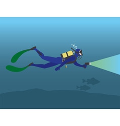 scuba diving vector image