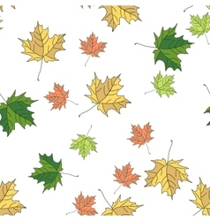 Seamless pattern of autumn vector image