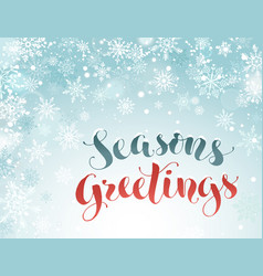 Seasons greetings greeting card vector
