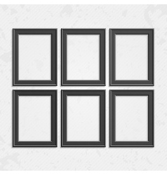 Set of black frames vector image vector image