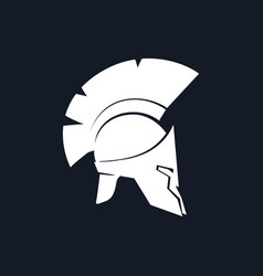 Silhouette antiques greek helmet vector