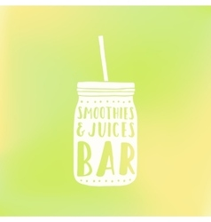 Smoothies and juices bar logotype vector image