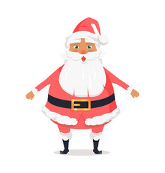 standing santa front view on white background vector image