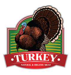 Turkey badge design vector