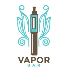 vapor bar logo design isolated on white vape e vector image vector image