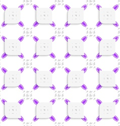 White and purple small rectangle gropes and vector image vector image