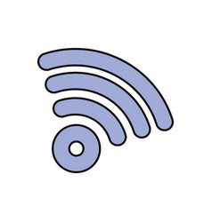 wireless sign icon vector image vector image