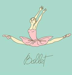 with ballet dancer vector image