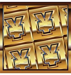Yen ingot vector