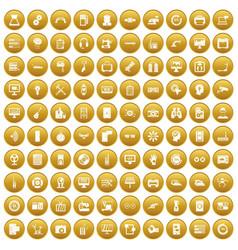 100 set gold vector
