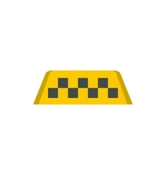 Taxi sign icon in flat style vector
