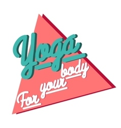 Color vintage yoga emblem vector