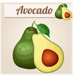 Avocado 2 cartoon icon series of food and vector