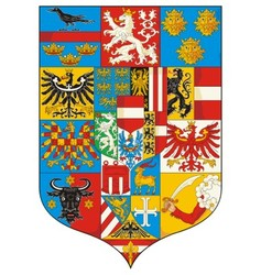 Great Coat of arms Austria 1915 Grossen Wappen vector image