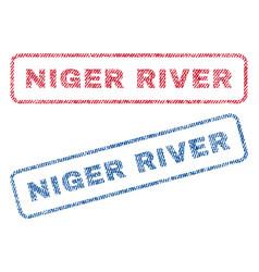 Niger river textile stamps vector