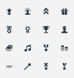 Set of simple reward icons vector