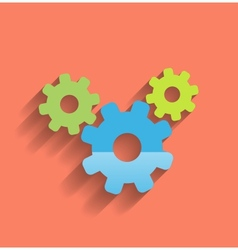 Cogwheel flat icon vector