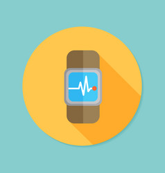 Smartwatch wearable technology flat icon with vector