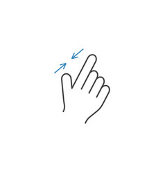 2 finger zoom out line icon hand gestures vector