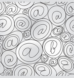 E-mail sign seamless background email or spam vector