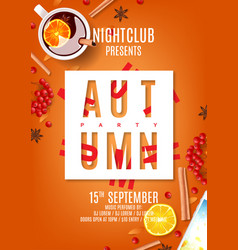 Beautiful orange flyer for autumn party vector
