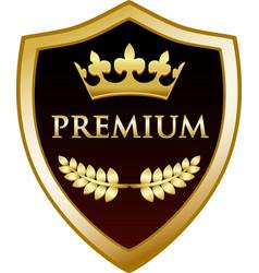 Premium gold shield vector