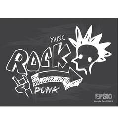Blackboard love rock music vector