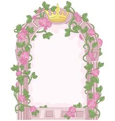 Fairy tale frame vector