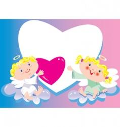 enamoured angels vector image