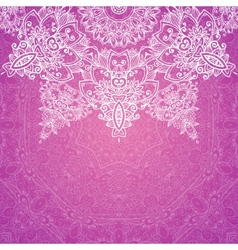 Pink ornate vintage wedding card background vector