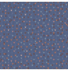Seamless melange pattern on the wool knitted vector