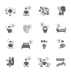 Ideas Icons Set vector image
