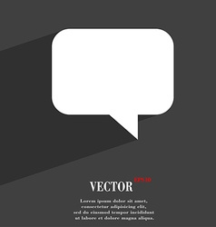 Speech bubble chat think icon symbol flat modern vector