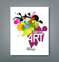 Annual report colorful ink splash and shape face vector