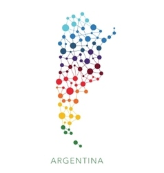 Dotted texture argentina background vector