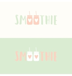 Hand drawn original smoothie logotype vector