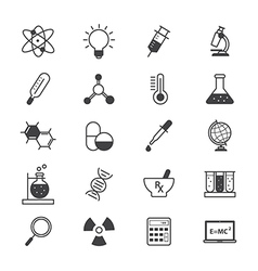 Science and medical icons line vector