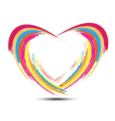 abstract rainbow heart design vector image vector image
