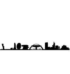 abu dhabi skyline with bridge and mosk vector image