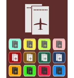 Airfare icon vector